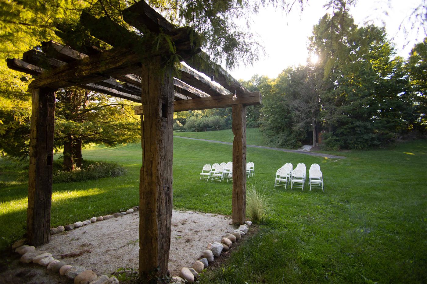 gables outside heston hills wedding venue in laporte