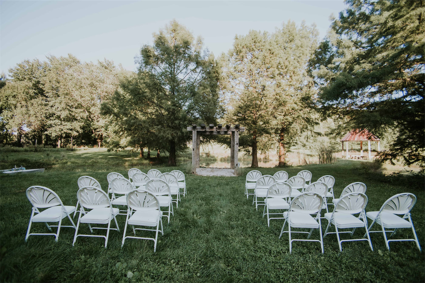 view of the front of the gables at heston hills event center wedding venue