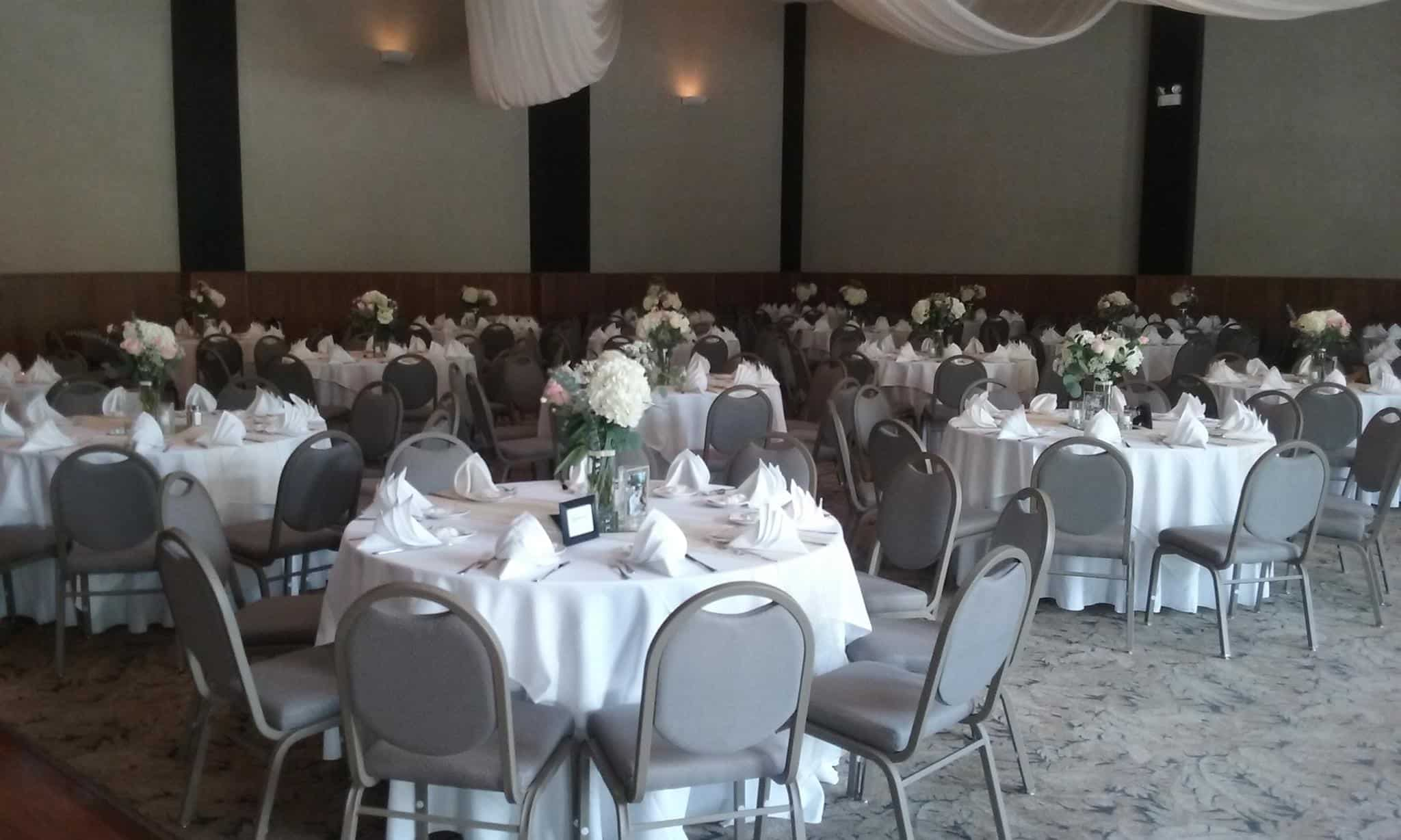 View of Galena Ballroom at Heston Hills Event Center before business luncheon