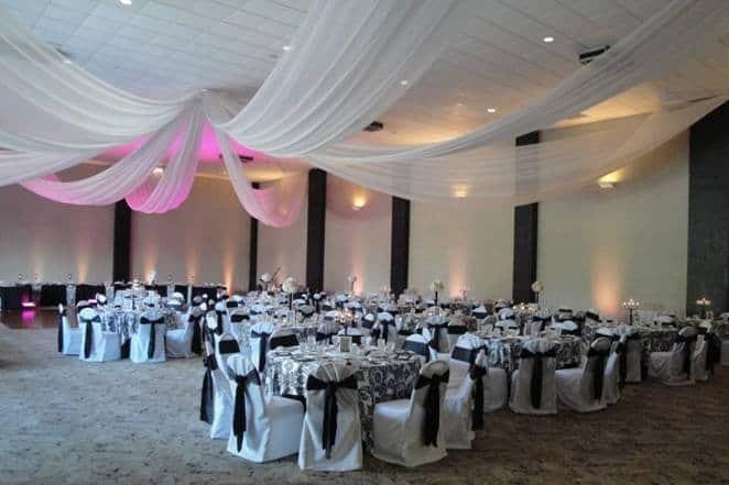 Heston Hills Galena Empty Ballroom With Decorations
