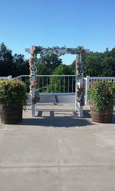 Prairie Room Terrace - Flower Arch